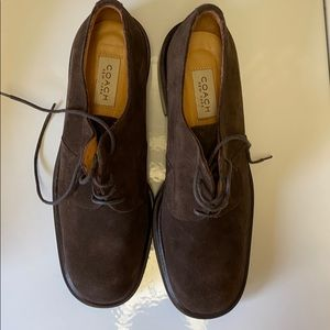 Coach brown suede shoes size 9
